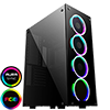 View more info on GameMax Predator RGB Full Tempered Glass Gaming Case MB SYNC 3pin...