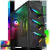 View more info on GameMax Vengeance 4x ARGB Fans 3pin Hub RF Remote TG Side Panel...