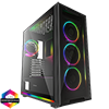 View more info on GameMax View ARGB Sync Gaming Case 2xLED Strips 4xFans 3pin Hub TG Front/Side...