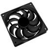 12cm Black Fan 4pin Molex Connector - Alternative image