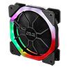 CiT Cosmic Halo Dual Ring Rainbow RGB 120mm Fan with 5V Addressable 3pin Header 3pin Power - Alternative image