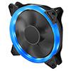 OEM Blue Ring 12cm Fan 4pin Molex 3pin White Box - Alternative image