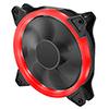 OEM Red Ring 12cm Fan 4pin Molex 3pin White Box - Alternative image