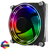 GameMax Gamma 300 Rainbow ARGB CPU Cooler Aura Sync 3 Pin - Alternative image