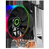 GameMax Gamma 500 Rainbow ARGB CPU Cooler Aura Sync - Alternative image