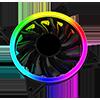 GameMax Velocity 12cm Rainbow ARGB Fan RTB 3pin M&F Aura Header 3pin/4pin Power - Alternative image