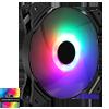 GameMax Haze Fan 3pin M/F ARGB 3/4pin Power Retail Box - Alternative image