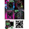 GameMax Mirage Rainbow RGB 120mm Fan 5V Addressable 3pin Header & 3pin M/B  - Alternative image