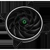 GameMax Razor 12cm Rainbow ARGB Fan RTB 3pin M&F Aura Header 3pin/4pin Power - Alternative image
