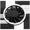 GameMax RGB Kit 3x Velocity Fans 1x Viper Strip 1x Hub 4pin Sync Brown Box - Alternative image