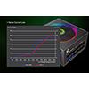 GameMax 750W Modular RGB Gold 80 Plus 14cm RGB Fan - Alternative image