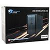 Powercool Smart UPS 1000VA 3 x UK Plug 3 x IEC RJ45 x 2 USB LED Display - Alternative image