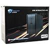 Powercool Smart UPS 1200VA 3 x UK Plug 3 x IEC RJ45 x 2 USB LED Display - Alternative image
