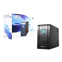 Powercool Smart UPS 1500VA 3 x UK Plug 3 x IEC RJ45 x 2 USB LCD Display - Click below for large images