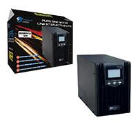 Powercool Smart UPS 2000VA 2 x UK Plug 3 x IEC RJ45 x 2 USB LCD Display - Click below for large images