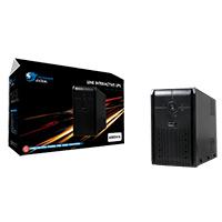 Powercool Smart UPS  650VA 2 x UK Plug RJ45 x 2 USB LED Display - Click below for large images