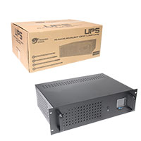 Powercool Rack-Mount Off-Line UPS 1200VA with LCD & USB Monitoring with 2x7Ah - Click below for large images
