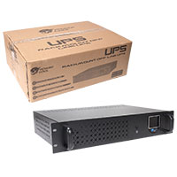 Powercool Rack-Mount Off-Line UPS 850VA with LCD & USB Monitoring with 1x8Ah  - Click below for large images